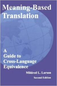 Meaning-based Translation