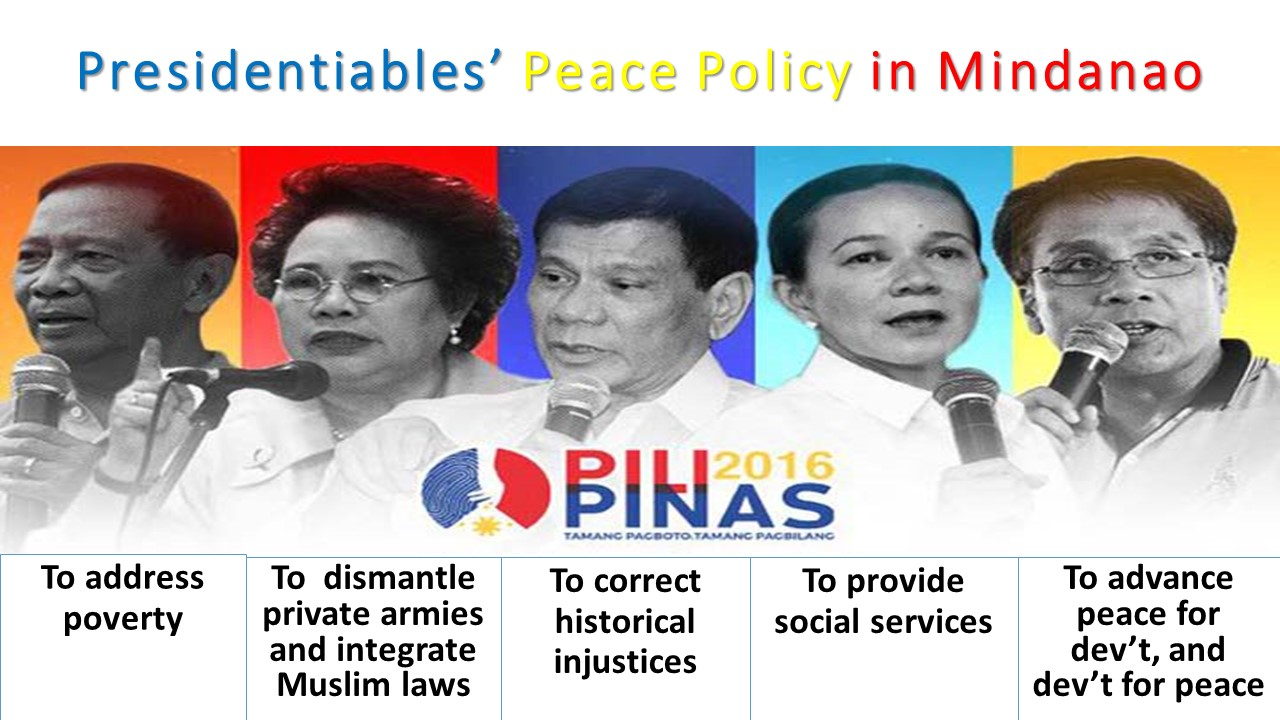 peace in mindanao essay The danger will always lie in the possibility of homogenizing the various voices in mindanao and sulu, thinking that duterte and his administration can provide an.